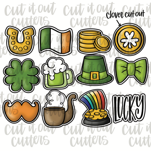 Saint Patrick's Day Minis Cookie Cutter Set