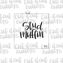 Load image into Gallery viewer, Stud Muffin Cookie Stencil