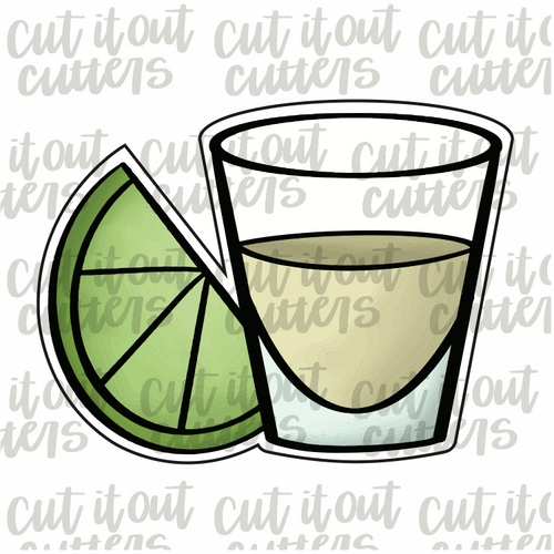 Tequila Shot & Lime Cookie Cutter