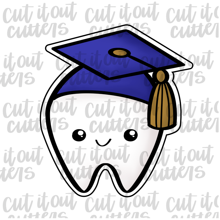 Tooth Grad Cookie Cutter
