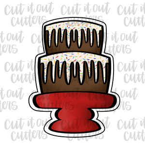 Two Tier Drip Cake Cookie Cutter