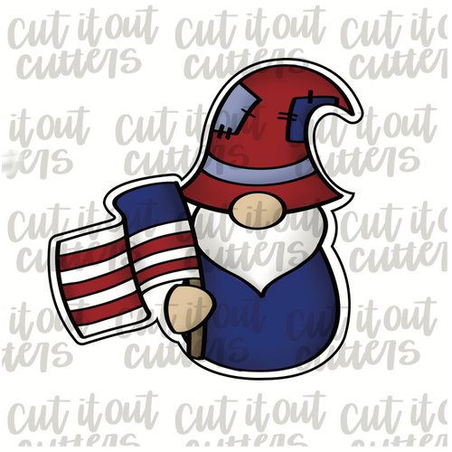 USA Gnome Cookie Cutter