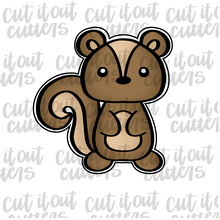 Load image into Gallery viewer, Woodland Skunk-Squirrel Cookie Cutter