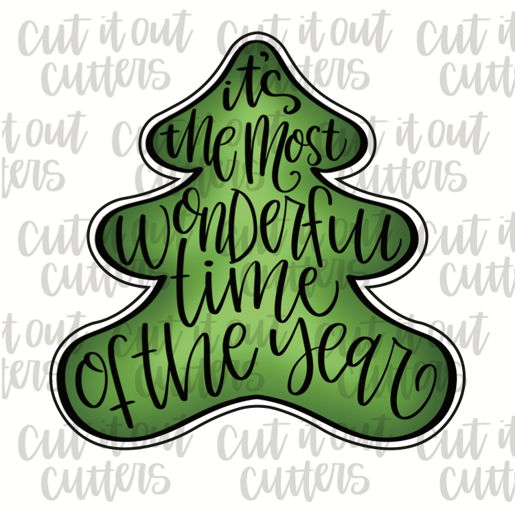 Worded Christmas Tree Cookie Cutter