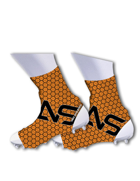 Neo X3 Hornet Style Cleat Spats -  Orange & Black