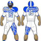 Storm style Lightening football uniform