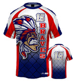 Chiefs Style Sublimated Baseball Crew Shirt