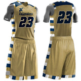 Marquette Style Custom Sublimated Basketball Uniform