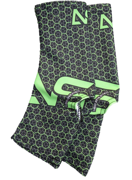 Neo X3 Hornet Cleat Spats - Black & Neon Green