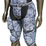 7 Padded Girdle Camo White, Black and Grey Full View Adult and Youth