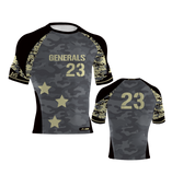 Custom Camo mens compression shirts black vegas gold