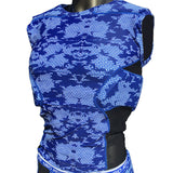 Camo Royal Padded Football Shirt Adult and Youth