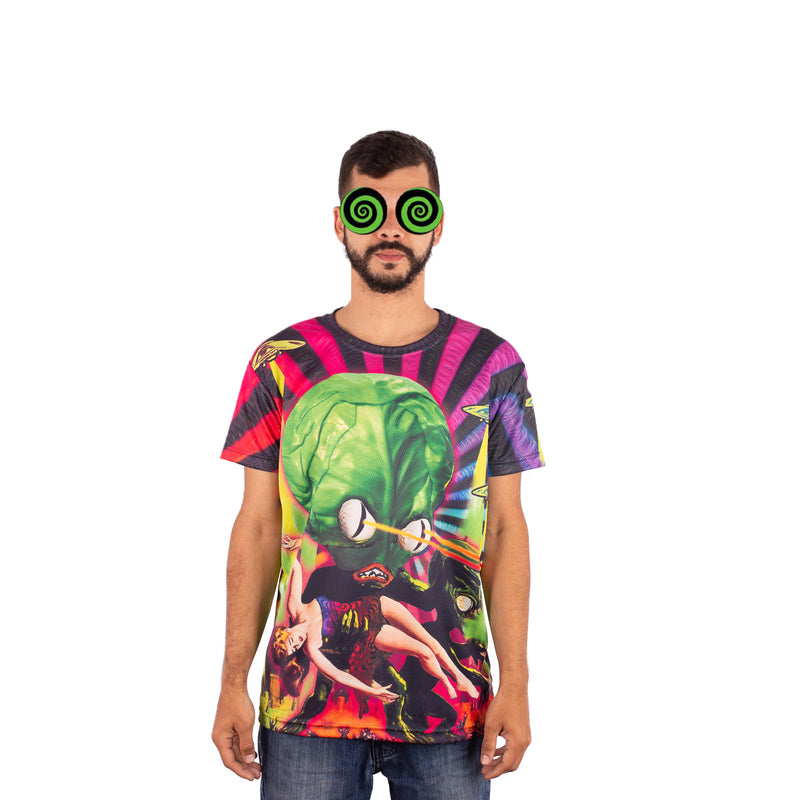 CAMISETA MAD TRIBE - ALIEN HOAX ROXO