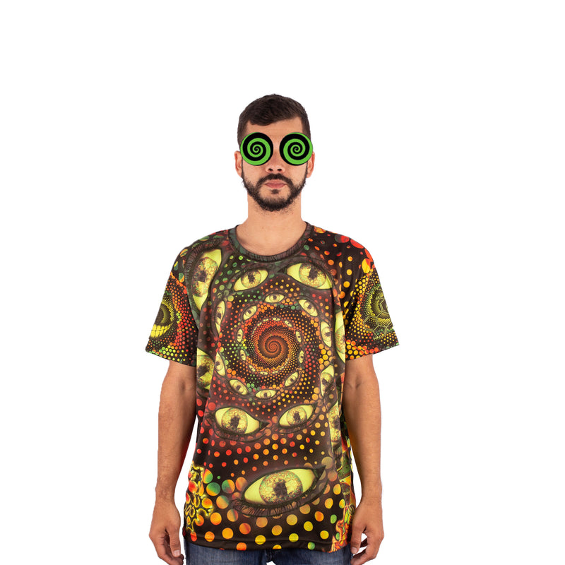CAMISETA MAD TRIBE - LSD PARTY VERDE