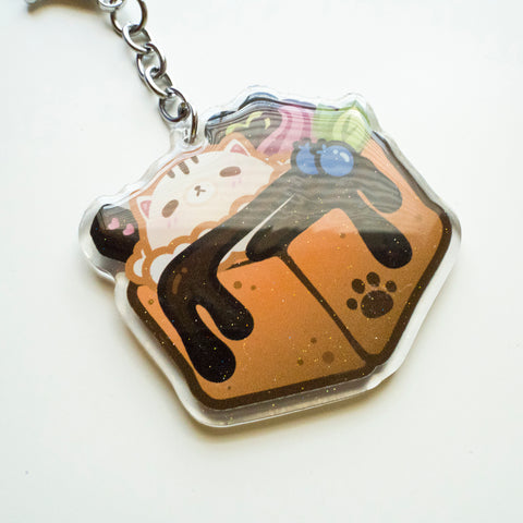 Kitty Ice Cream Pan Keychain
