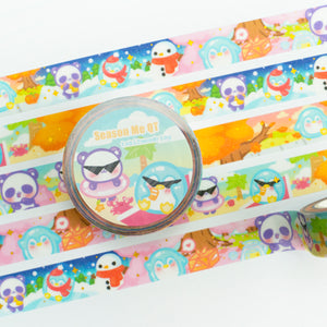 Season Me QT - Gold Foil + Glitter Washi Tape