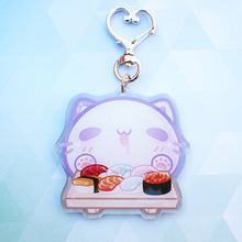Load image into Gallery viewer, Sushi Neko Keychain