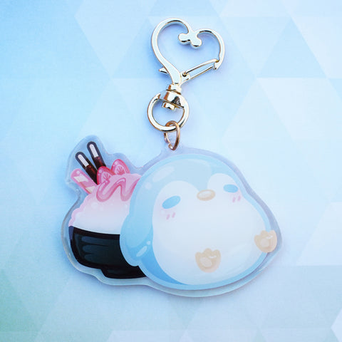 Penguin Ice Keychain