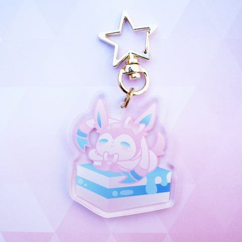 "2"" Sylveon Keychain"