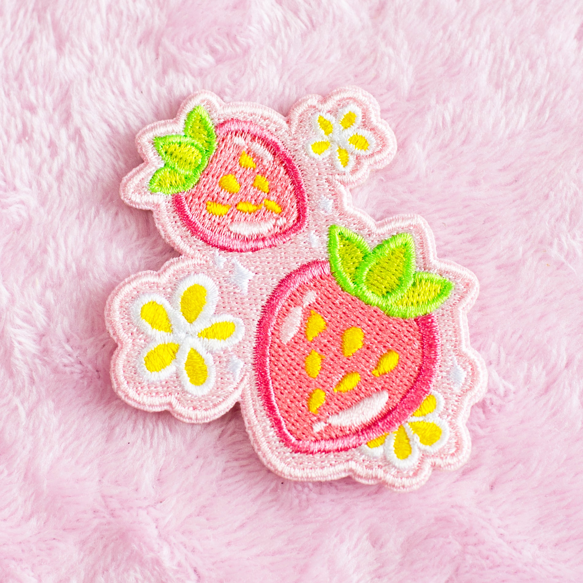 Strawberries - Iron On Patch