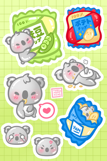 Hungry Koalas - Vinyl Sticker Sheet