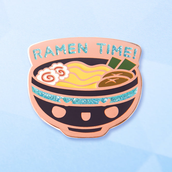 Teal Glitter Ramen Time - Pin