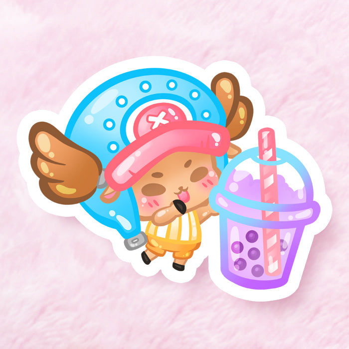 Chopper Boba Bae Vinyl Sticker