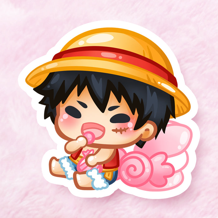 Luffy Hungry Boi Vinyl Sticker