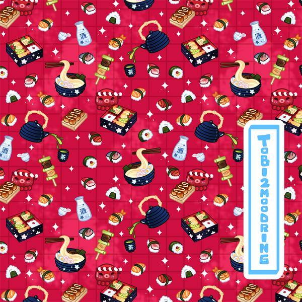 Japanese Foods Shirt - RED
