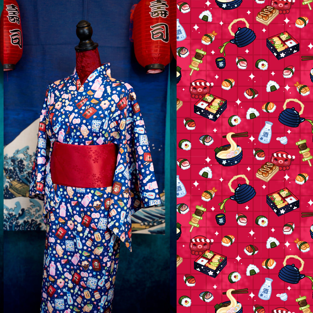 Japanese Foods Red - Yukata