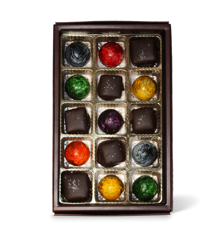 15 piece assorted hemisphere and salted caramel