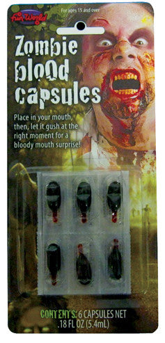 Zombie Mouth Blood Capsules