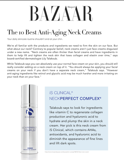 iS Clinical Neckperfect Complex Harper's Bazaar