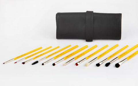 Bdellium Tools Studio Line - 12pc Essential Eyes Brush Set TRAVEL
