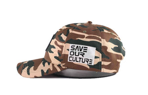 """Save our culture"" camo cap (Preorder)"