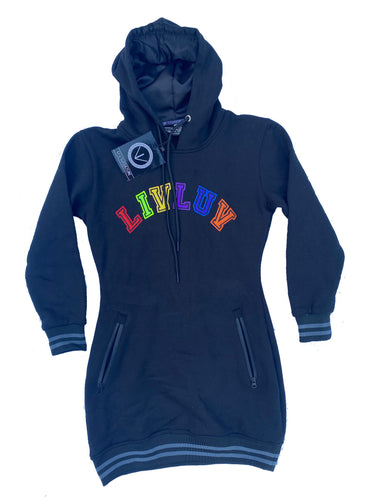 French terry colors long hoodie