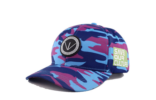 """Save our culture"" camo cap"