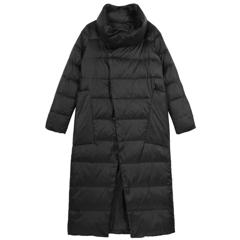 Asymmetrical Puffy Coat - Indigo