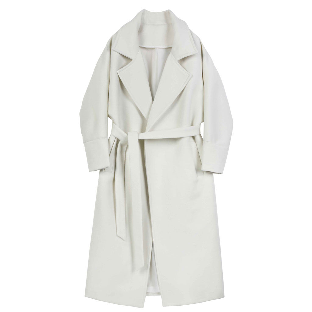 Icy White Trench - Indigo