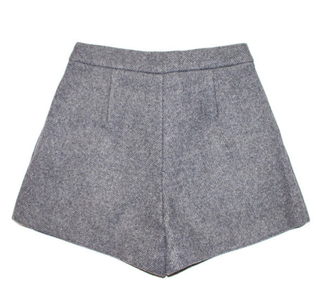 Wool Pinup Shorts - Indigo