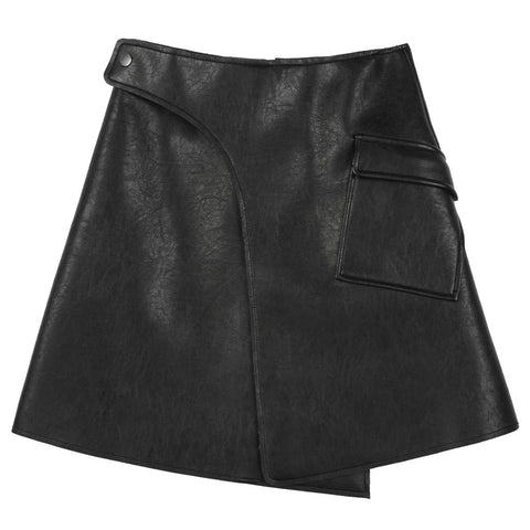 Avant-Garde Leather Mini Skirt