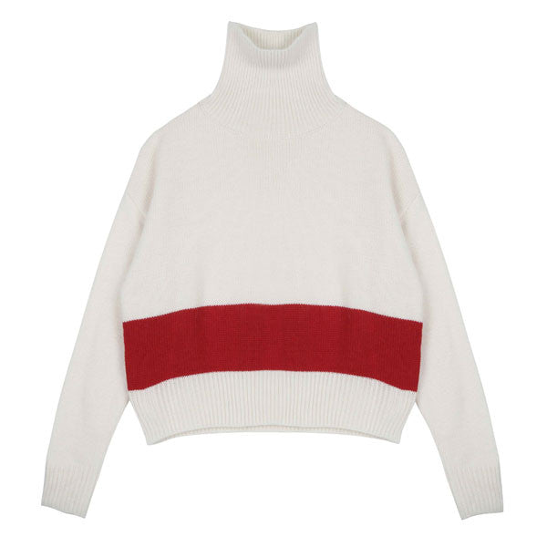 Red Stripe Sweater - Indigo