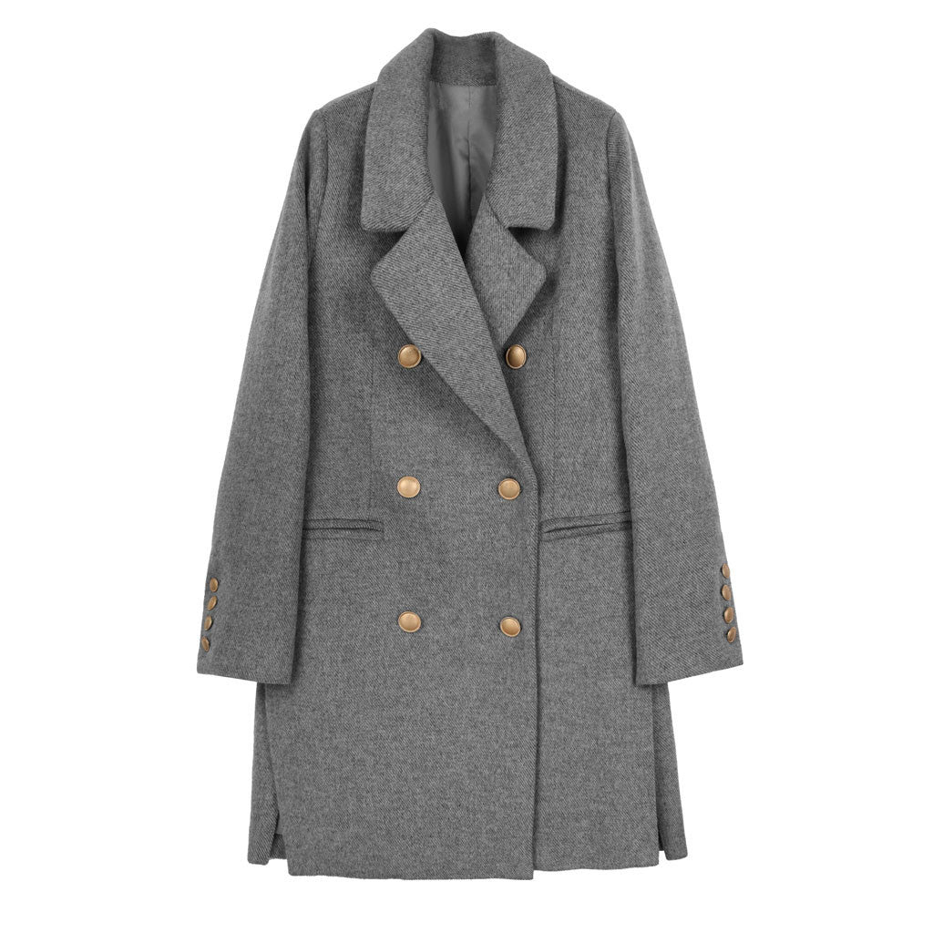 Military Peacoat - Indigo