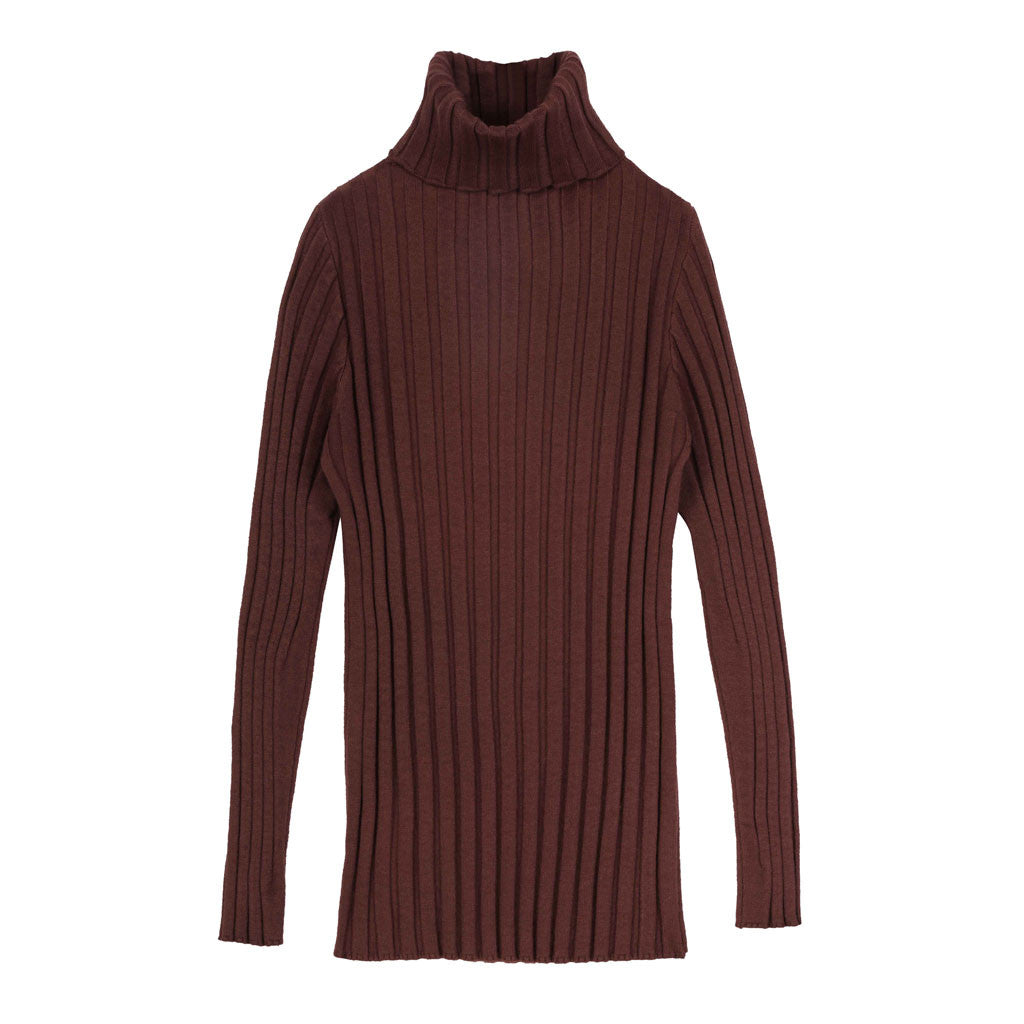 Burgundy Turtleneck - Indigo