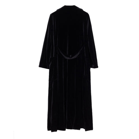 Long Velvet Coat - Indigo