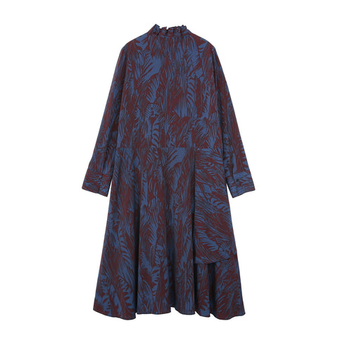 Tiered Jungle Dress - Indigo