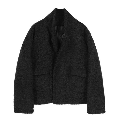 Fuzzy Car Jacket - Indigo