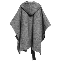 Herringbone Bow Cape - Indigo