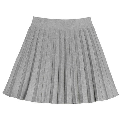 Varsity Pleat Skirt - Indigo