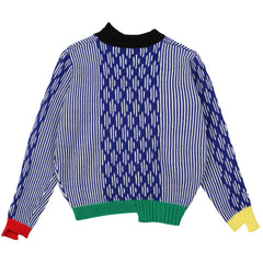 '80s Throwback Sweater - Indigo